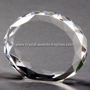 Faceted crystal oval blocks