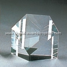 Pentagon Crystal paperweight