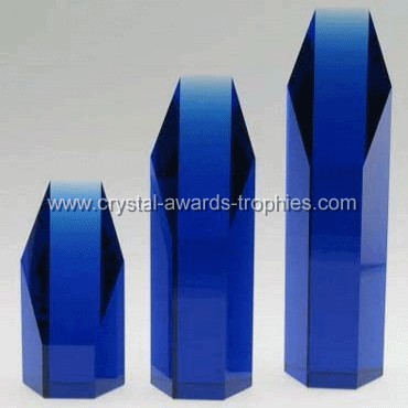 blue crystal hexagon tower