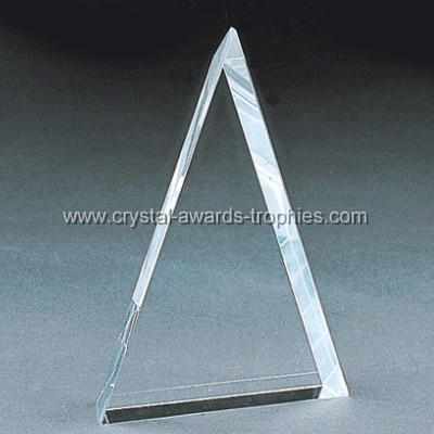 beveled triangle crystal blanks
