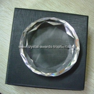 Facted roundness crystal paperweights