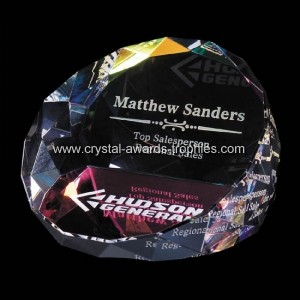 Stained crystal office paperweights