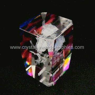 3d crystal lasering paperweight