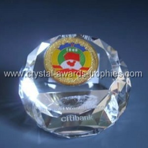 diamond cut crystal paperweights