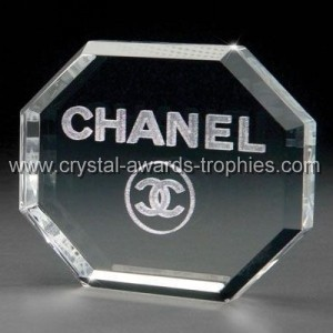 3d crystal octagon paperweights