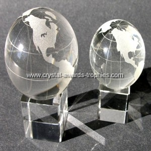 Crystal Globe with Square base