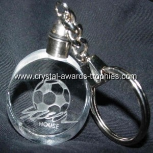 Roundness Crystal keyring with engraved