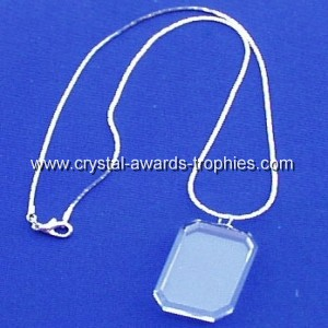 Blank crystal necklace