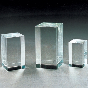 Rectangle crystal laser cubes