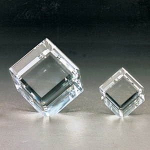 Cut corner double edges crystal cubes