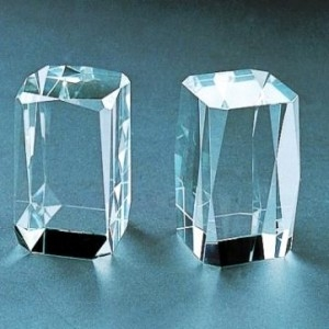 Beveled crystal Rectangle blanks