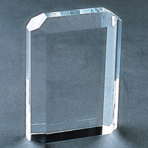 beveled crystal rectangle laser cubes
