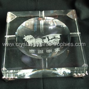 engraved crystal ashtray gifts