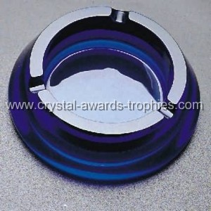 Blue crystal Ashtray gifts