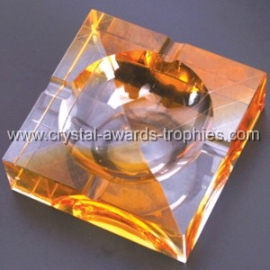 Amber crystal combined Ashtray gift