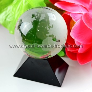 child crystal globe award trophy
