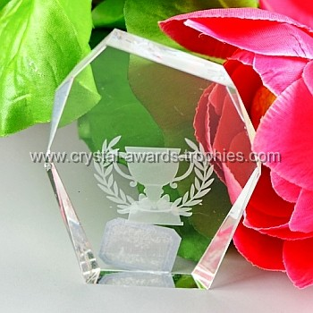 child laser crystal award trophy