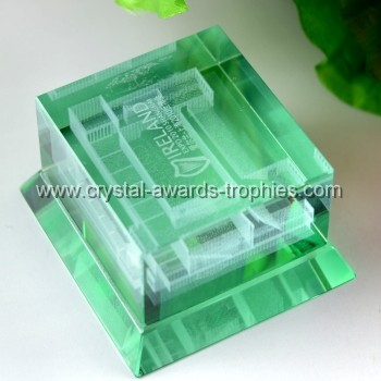 laser build crystal award trophy