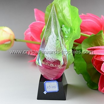 child pyramid crystal award trophy